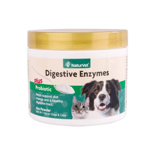 NATURVET® Digestive Enzymes Powder Plus Pre & Probiotic